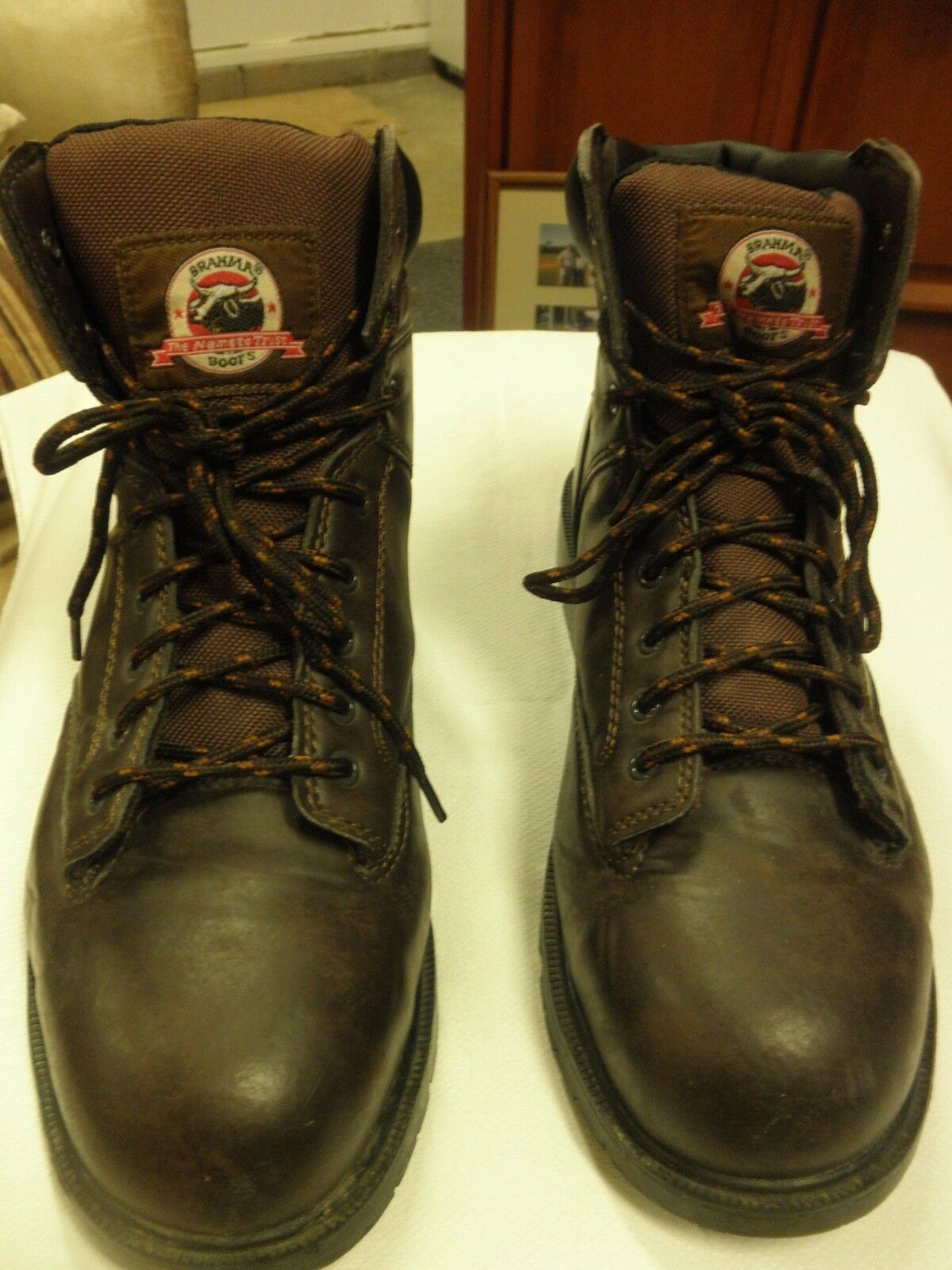 BRAHMA The Name To Trust STEEL TOE Men's Boot available  size 13 DARK Brown