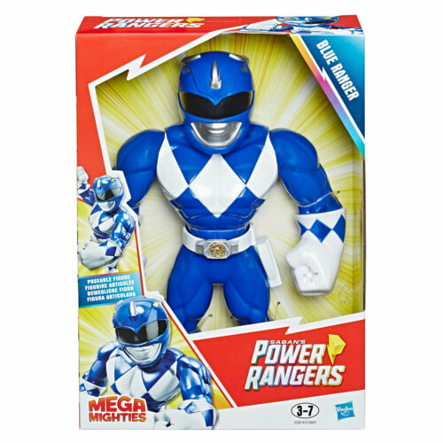 Playskool EROI MEGA potente Power Rangers Blu Ranger Figura da 10 pollici