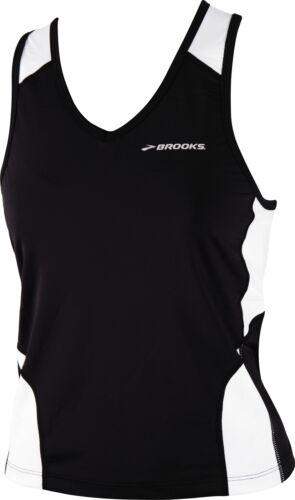 Brooks Mach IX Womens Running Vest Tank Top Black