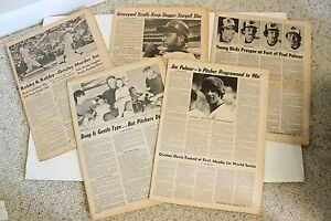 5 Vintage Sporting News Baseball Newspaper Memorabilia Orioles Pirates Palmer