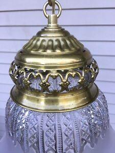 Vintage Chandelier Pendant Ceiling Light Lamp Brass