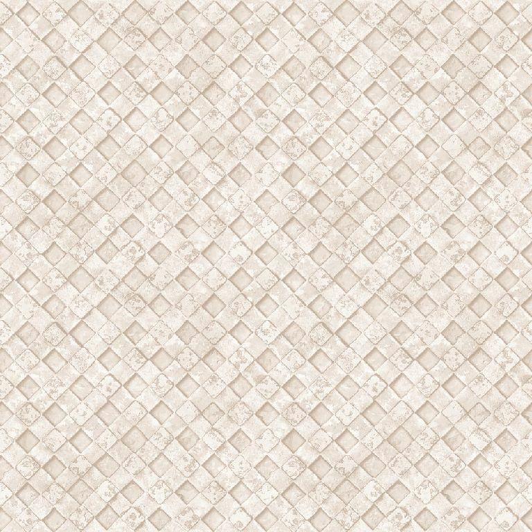Essener Tapete Grunge G45337 Rombo Mosaico Piastrelle Pile Carta Parati Beige