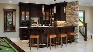 Fully Assembled All Wood 10x10 Shaker Espresso Kitchen Cabinets Dark Brown Ebay