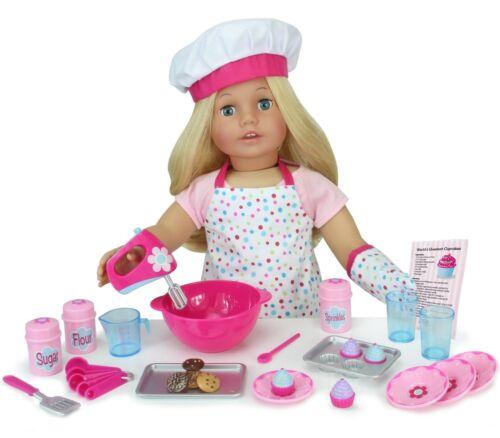 18 Inch Doll Baking Set of 26 Pcs Fits American Girl Doll Furniture Mini Dol...