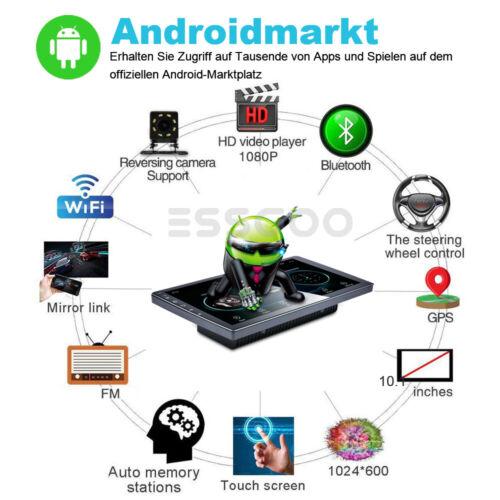 "10.1/"" 2 DIN Android 9.1 Autoradio GPS NAVI Bluetooth Quad Core 2+16GB Mit Kamera"