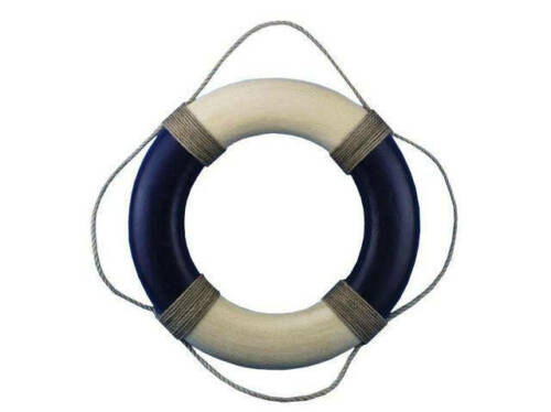 """Vintage Blue and White Decorative Life Ring 20/"""" Beach Decor"""