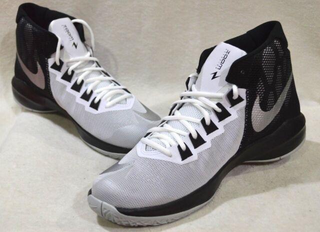 feb0c75b21c Nike Zoom Devosion White Silver Black Men s Basketball Shoes - Asst Sizes  NWB