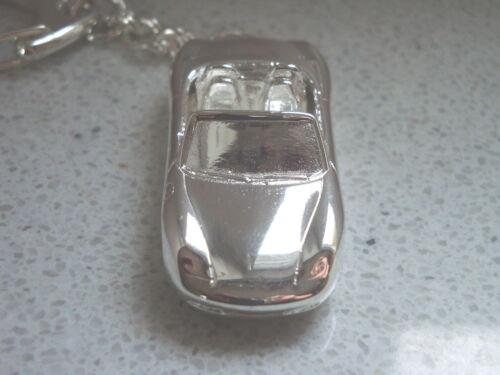 Schlüsselanhänger Porsche Boxter Cabrio offen versibert 5241