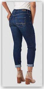 d8ef5bf7 Details about DENIZEN from Levi's Women's Modern Slim Cuffed Jeans - light  / Dark / SZ 2 4 6