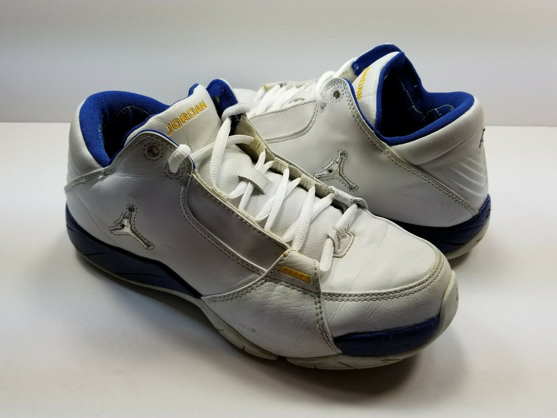 sale retailer 5c705 79cb6 JORDAN HOOPS LOW 314312-101 WHITE BASKETBALL SHOES - SIZE 7.5. Mens Piloti  Racing Driving shoes 8 ...