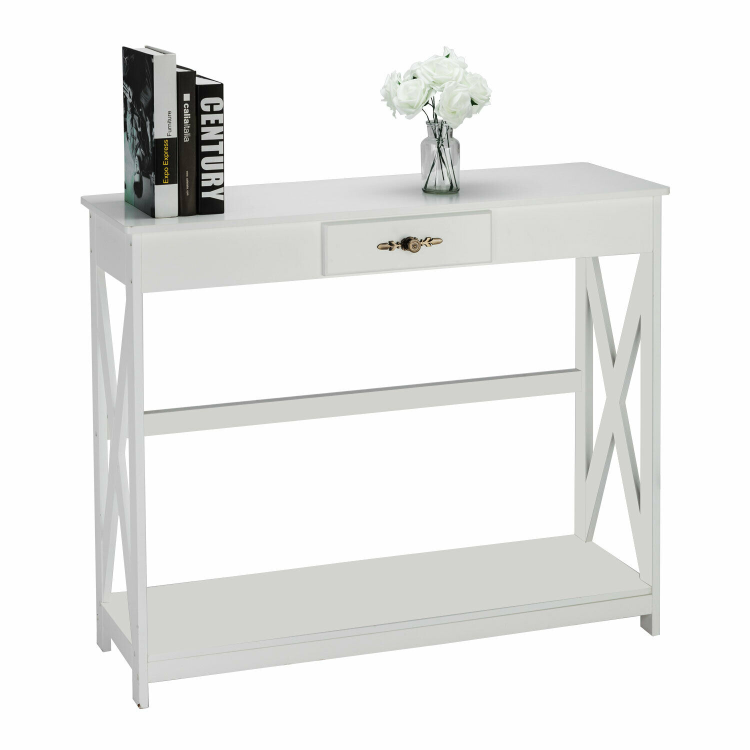 Picture of: Home Craft Console Table White For Sale Online Ebay