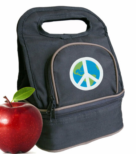 World Peace Sign Lunch Bag Lunchbox Cooler Bags