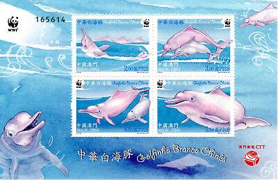 01.12.2017 Macau Postfr.,block 266 Kaufe Jetzt Weisser Chin.delphin