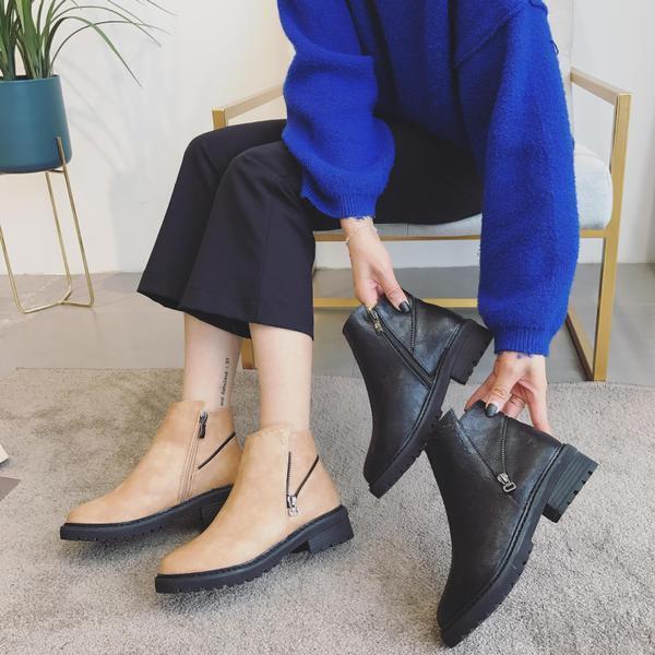 Stivali stivaletti bassi shoes anfibi 3  black brown eleganti simil pelle 9640
