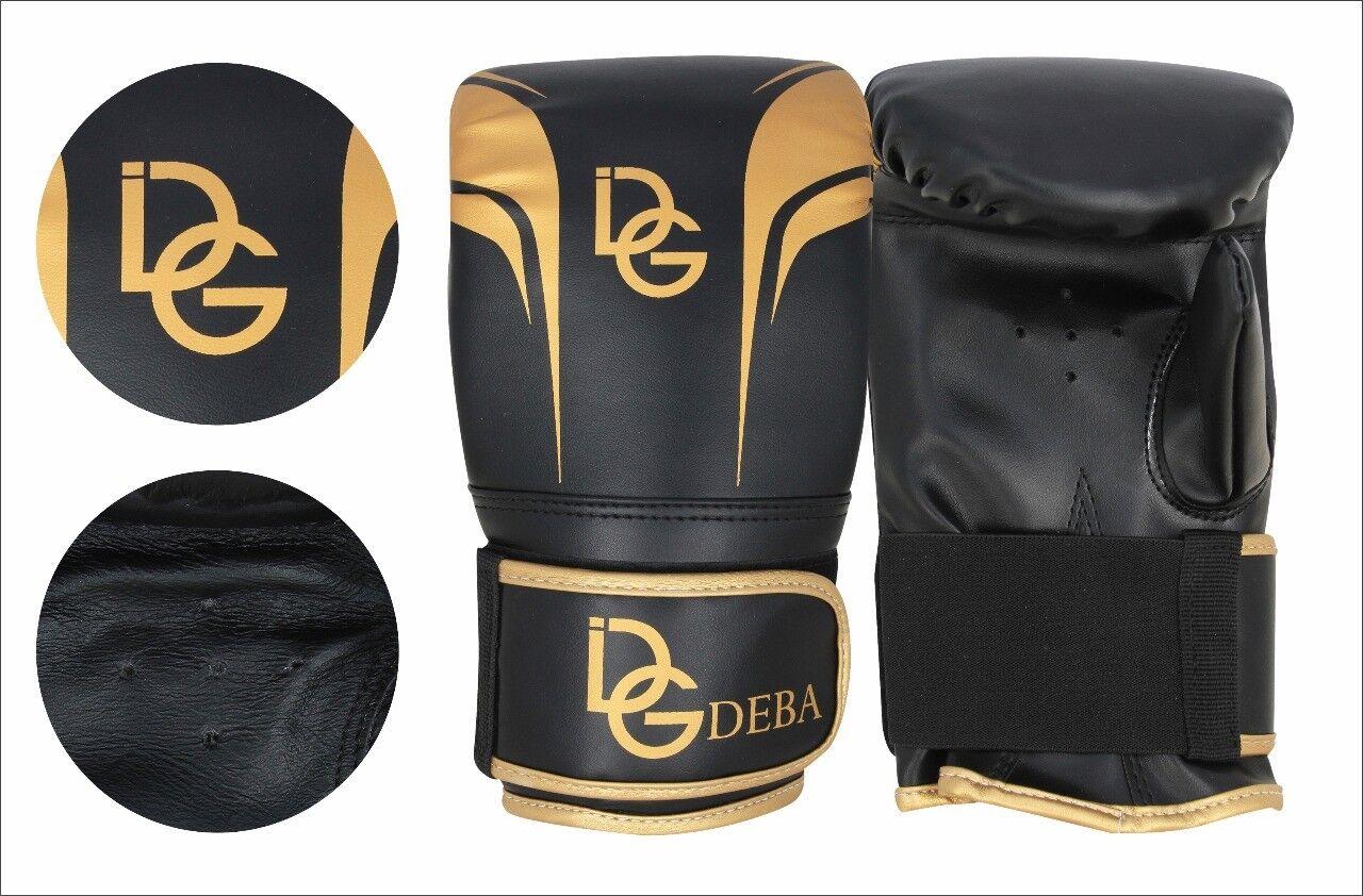Deba® Boxhandschuhe Leder Boxing Gloves Handschuhe kickboxen Kampfsport Boxen DE