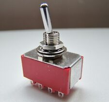 4PDT Four Pole Latching Mini Flick Toggle Switch On-Off-On Double Throw SW24