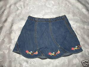 CUTE Girls GYMBOREE ISLAND GETAWAY Jean SKIRT Sz 3T