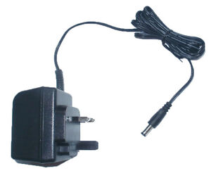 Replacement Power Supply for Behringer ADI21 Guitar Effects 9V DC 1A EU