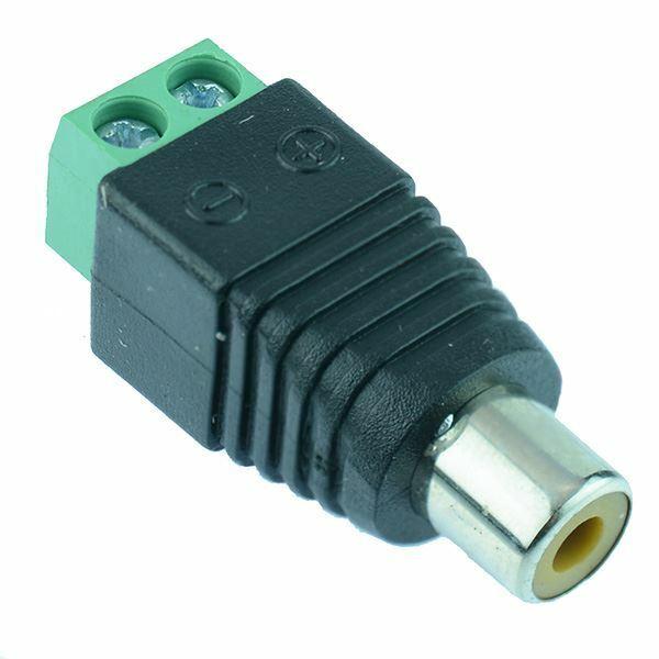 Female RCA Phono Socket Screw Terminals Audio Connector