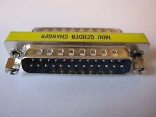 DB25 25 pin M / M MASCHIO A MASCHIO MINI GENDER CHANGER CONVERTITORE C2G 81518 RS232