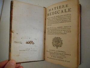 Matière Médicale.par M.deidier.1738.médecine Naturelle Du Xviii°.eo.