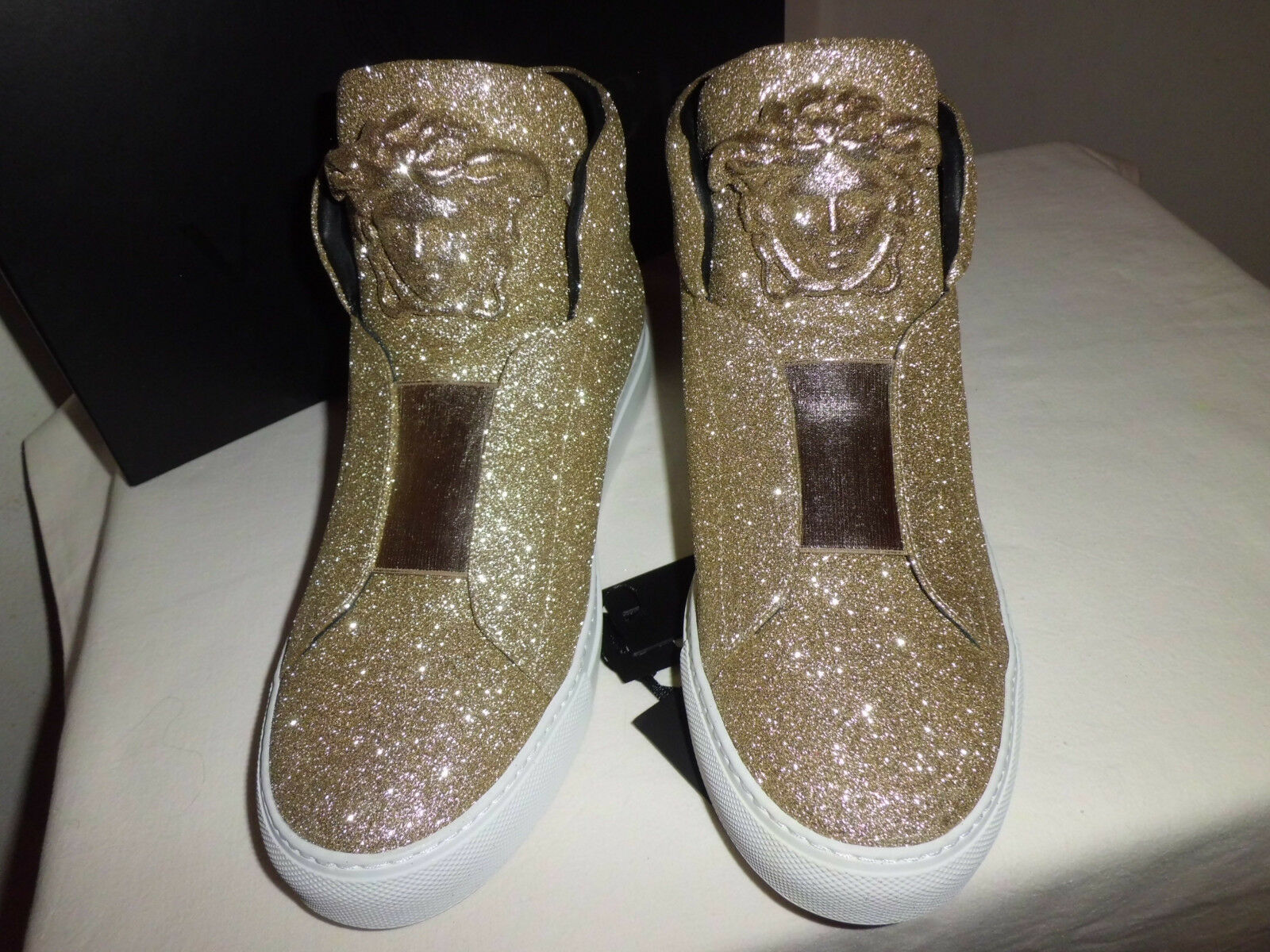 Versace Palazzo Sneakers  shoes  Glitter Sahara size  IT 40
