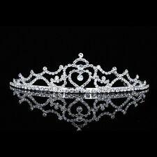 Bridal Heart Rhinestone Crystal Prom Wedding Crown Tiara 6403