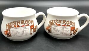Vintage-Mushroom-Soup-Mugs-With-Mushroom-Soup-Recipe-Set-Of-2