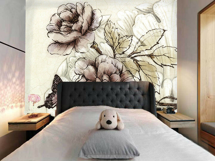 3D 3D 3D Flowers Leaves 89 Wallpaper Mural Paper Wall Print Wallpaper Murals UK Lemon d4f9e9