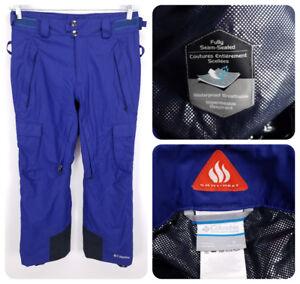 COLUMBIA-Cargo-Ski-Snowboard-Pants-SMALL-Insulated-Regular-Omni-Heat-Blue