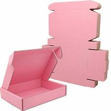 Lmuze Small Pink Shipping Boxes For Small Business Pack Of 25 8x55x16 Inc