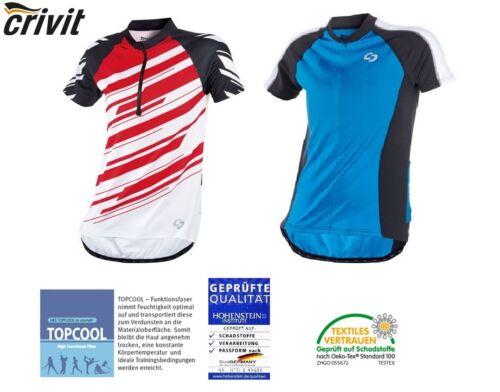 CRIVIT Uomo Maglietta Ciclista Radshirt Jersey Maglie Blu Rosso
