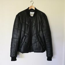 Kenzo Paris Men's Quilted 100% Lambs Leather Bomber Jacket Sz L