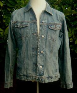 brand new 078f4 411a5 Details zu Esprit Damen Jeans Jacke 100% Baumwolle Jeansjacke Gr.L  stonewashed Blau A361