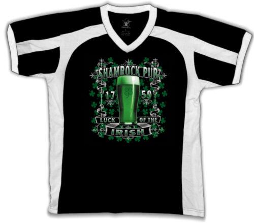 Shamrock Pub 1759 Luck Of The Irish Pint Glass Beer Green Men/'s V-Neck Sport Tee