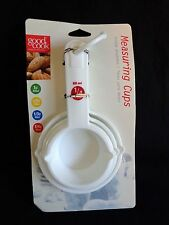 Good Cook Measuring Cups Set of 4 White Plastic Colorful Size Markings
