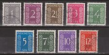 Indonesie 15-23 used 1949 Nederlands Indie 362-370 ; NOW MANY STAMPS INDONESIA