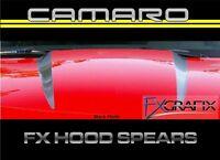 2010 - 2013 Chevrolet Camaro Hood Spears Stripe Kit 3m Quality Stripes