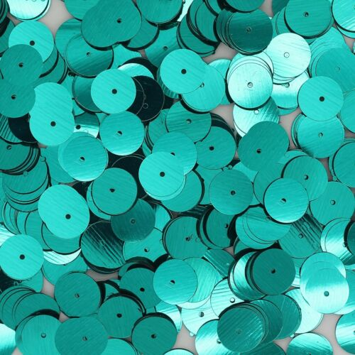 10mm Flat Loose SEQUINS PAILLETTES ~ Metallic Turquoise Teal Blue Green Peacock