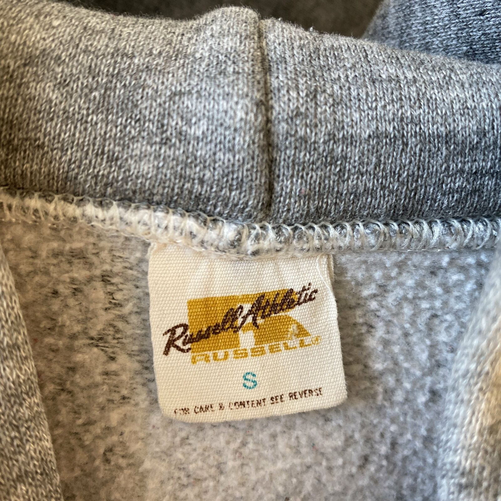 Vintage Heather 70s Russell The Big Run Hoodie Cl… - image 5