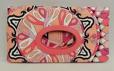 Emilio Pucci Pink Print  Foldover Clutch Bag New Perfect gift