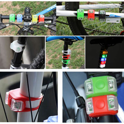 1pcs Bicycle Bike Silicone Frog Light LED Front//Rear Safety Wheel Warning Lamp