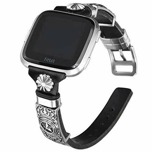 Genuine Leather Band Bracelet For Fitbit Versa 2//Fitbit Versa//Versa Lite /& SE