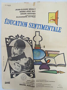Old-1962-French-Movie-Poster-Education-Sentimentale-Alexandre-Astruc