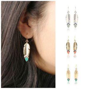 Fashion-Vintage-Feather-Ear-Stud-Jewelry-Earrings