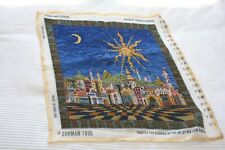Completed Ehrman needlepoint tapestry Starry Night Cushion by Candace Bahouth
