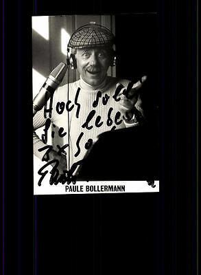 National Geschickt Paule Bollermann Autogrammkarte Original Signiert ## Bc 78744 BüGeln Nicht Musik