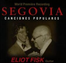 SEGOVIA CANCIONES POPULARES ELIOT FISK GUITAR CD