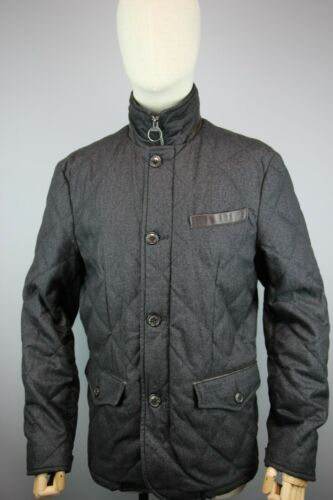 Barbour land rover gray filey quilted jacket Size