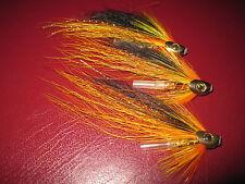 3 V Fly 1/2 Inch Ultimate RV Gold Cascade Skullhead Salmon Tube Flies & Trebles